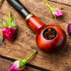 Smoking pipe and floral tobacco - PhotoDune Item for Sale