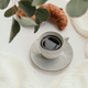 Cup of black coffee with croissant  - PhotoDune Item for Sale