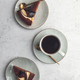 Cup of black coffee with chocolate cakes - PhotoDune Item for Sale