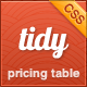 Tidy CSS3 Pricing Table - Simple, Clean, Flexible - CodeCanyon Item for Sale