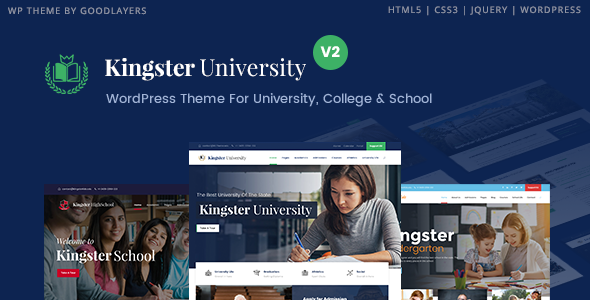 Kingster – Education WordPress For University, College and School