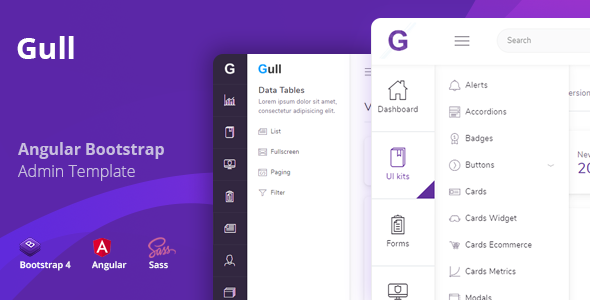 Gull - Angular 8+ Bootstrap 4 Admin Dashboard Template