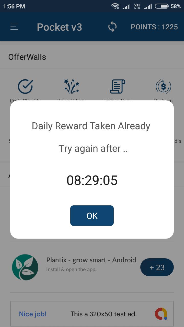 Android Rewards App - POCKET