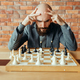 Male chess player playing, thinking process - PhotoDune Item for Sale
