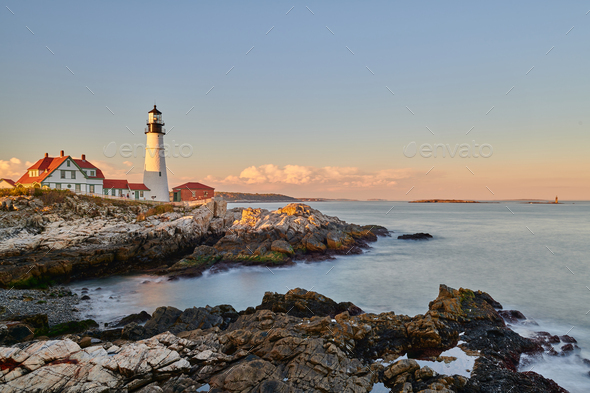 Portland Head Lighthouse, Maine, USA. - Stock Photo - Images