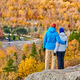 Couple hiking at Artist's Bluff in autumn - PhotoDune Item for Sale