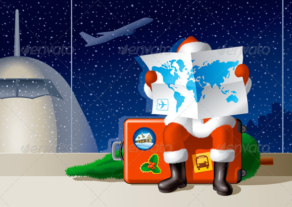 Santa's Christmas Travel - Christmas Seasons/Holidays