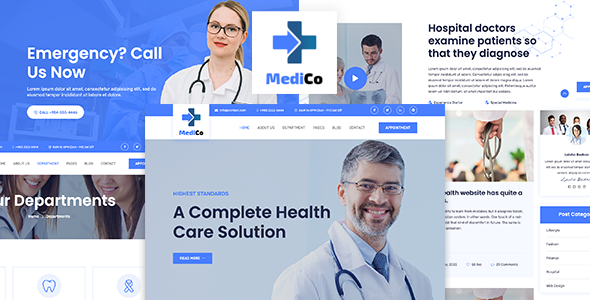 MediCo - Medical and Health Bootstrap Template
