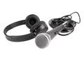 Wireless microphone and headphones - PhotoDune Item for Sale
