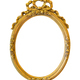 Oval golden decorative picture frame isolated on white - PhotoDune Item for Sale