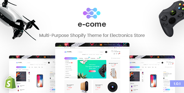 E-come | Multi-Purpose Shopify Theme for Electronics Store