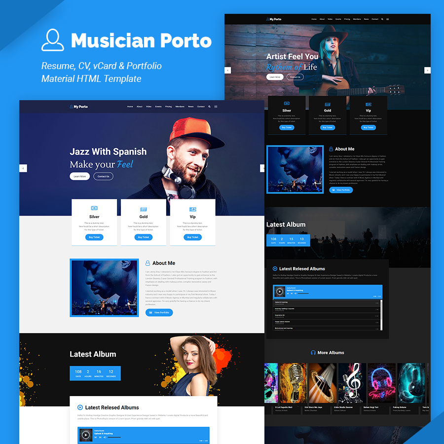 My Porto- Resume and vCard HTML Template - 9