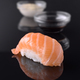 sushi with sauce bowl on black mirror background - PhotoDune Item for Sale
