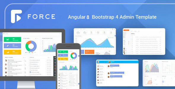 Angular 8 Admin Template with Bootstrap 4