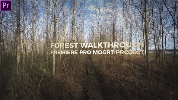 Forest Walkthrough (Mogrt)