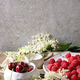 Fresh cherry and raspberry berries - PhotoDune Item for Sale