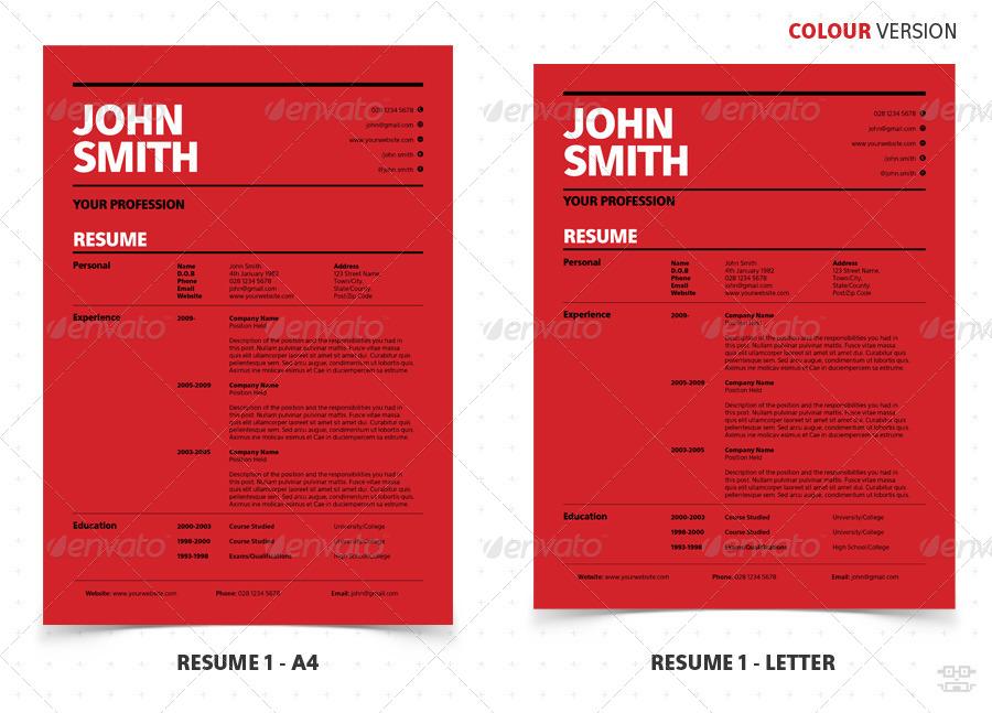 swiss style clean modern resume  cv by bilmaw