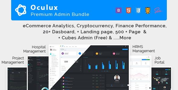Oculux Mega Bundle - Responsive Admin Dashboard Template & ui kit