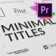 Just Type | Minimal Titles For Premiere Pro - VideoHive Item for Sale