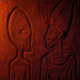 Alien Egyptian Wall Carving In Dusty Tomb - VideoHive Item for Sale