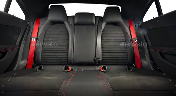 car interior, backseats - Stock Photo - Images