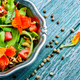 Fresh summer salad with nasturtium - PhotoDune Item for Sale