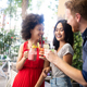 Multiracial group of friends having fun and talking - PhotoDune Item for Sale