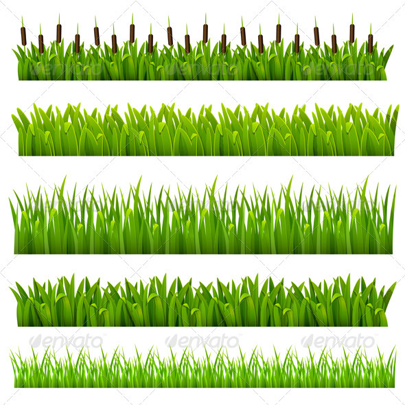 Set from grass  - Borders Decorative
