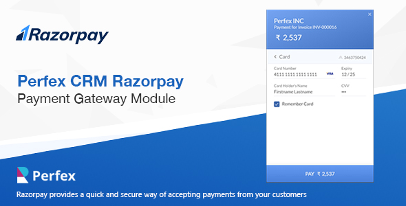 Razorpay Payment Gateway for Perfex CRM