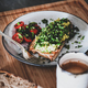 Healthy vegan breakfast with avocado toast and cup of coffee - PhotoDune Item for Sale