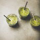 Vegan green smoothies in glasses with chia seeds, top view - PhotoDune Item for Sale