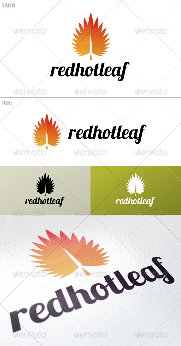 RedHotLeaf – Logo Template - Nature Logo Templates