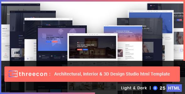 Threecon - Architectural, Interior & 3D Design Studio Html Template by bdwebteam
