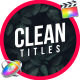 Titles Clean | FCPX or Motion 5 - VideoHive Item for Sale