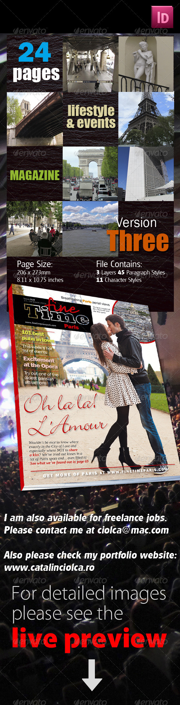 24 Pages Lifestyle & Events Magazine Version Three - Magazines Print Templates