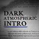 Taku / Dark Atmospheric Intro - VideoHive Item for Sale