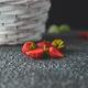 Strawberries in white basket. Fresh strawberries. - PhotoDune Item for Sale