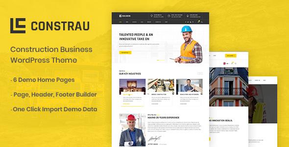 Constrau - Construction Business WordPress Theme