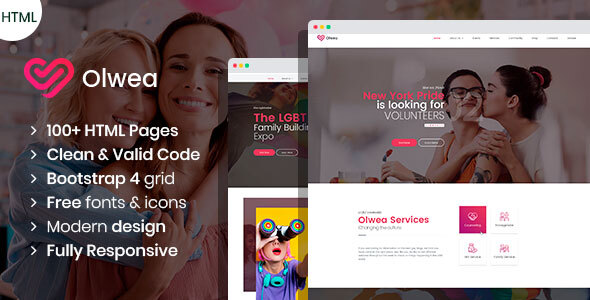 16 Best Non Profit HTML Website Templates  for March 2019