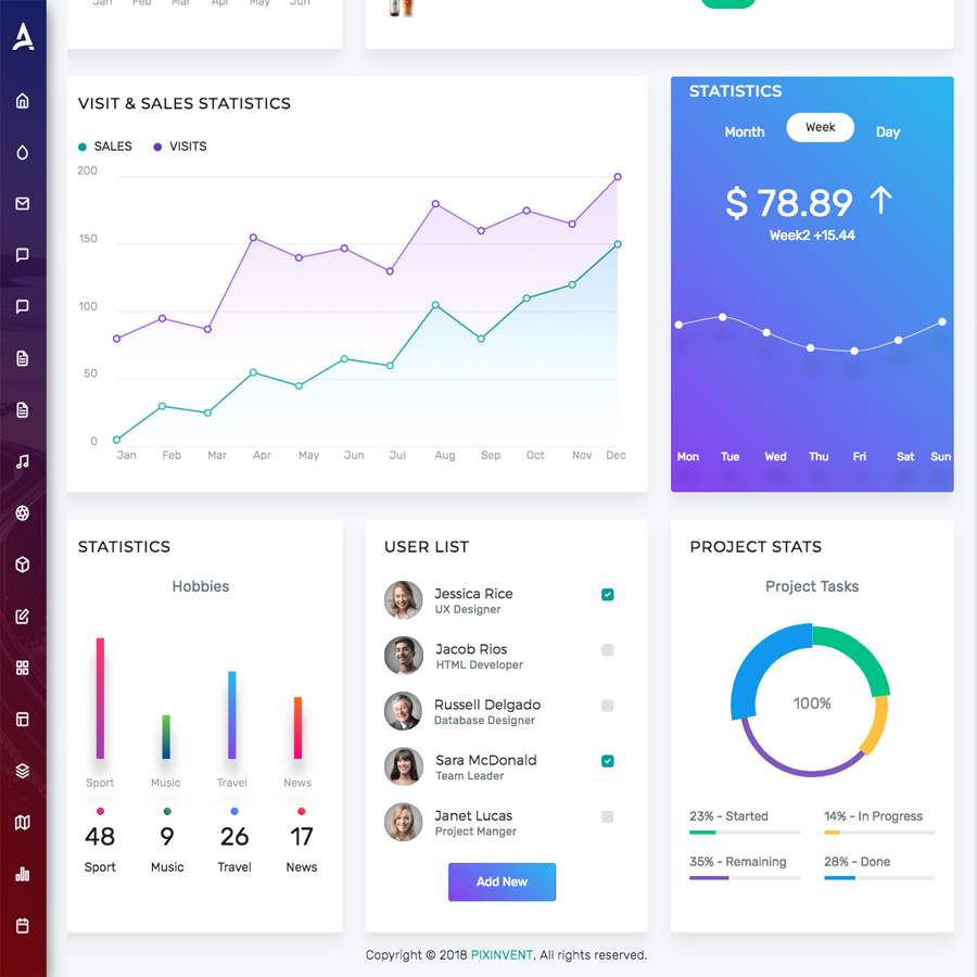 Apex - Angular 8+ & Bootstrap 4 HTML Admin Template