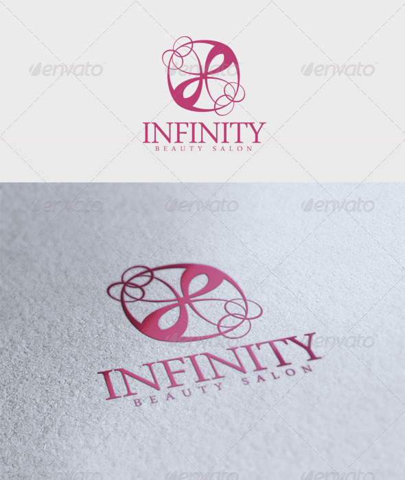 Infinity Beauty Salon Logo - Vector Abstract