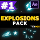 Cartoon Explosion Elements | After Effects - VideoHive Item for Sale