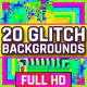 20 Colorful Glitch Backgrounds - VideoHive Item for Sale