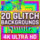 20 Colorful Glitch Backgrounds 4K - VideoHive Item for Sale