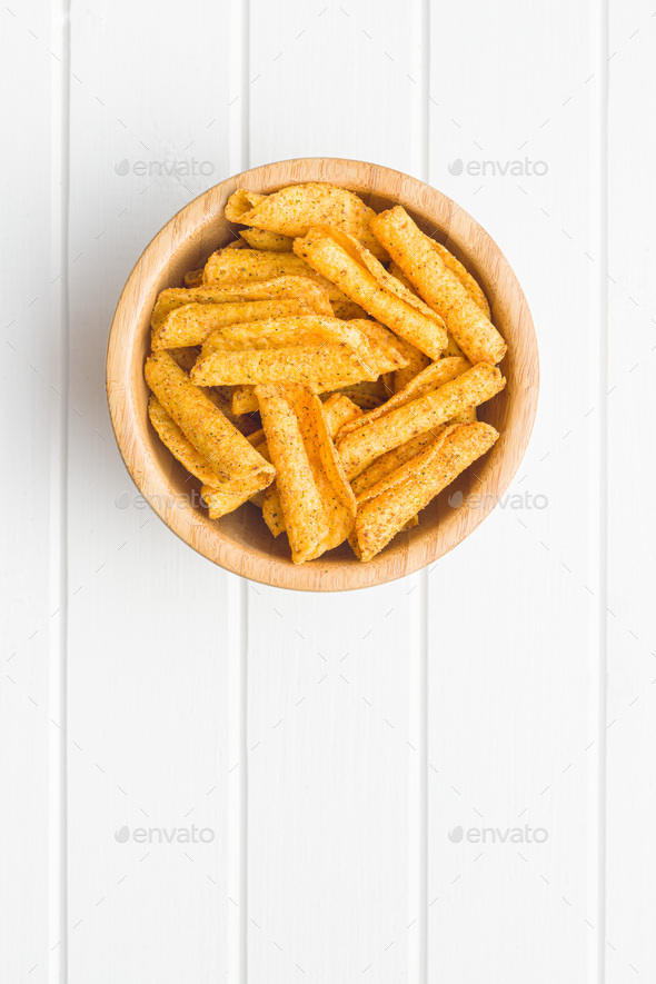 Rolled tortilla chips. - Stock Photo - Images