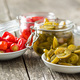 Pickled chili peppers and jalapeno peppers. - PhotoDune Item for Sale