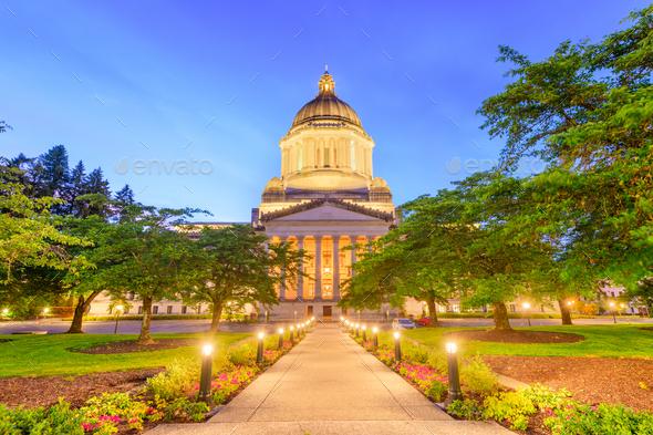 Olympia, Washington, USA state capitol building - Stock Photo - Images
