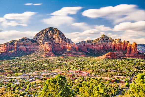 Sedona, Arizona, USA downtown - Stock Photo - Images