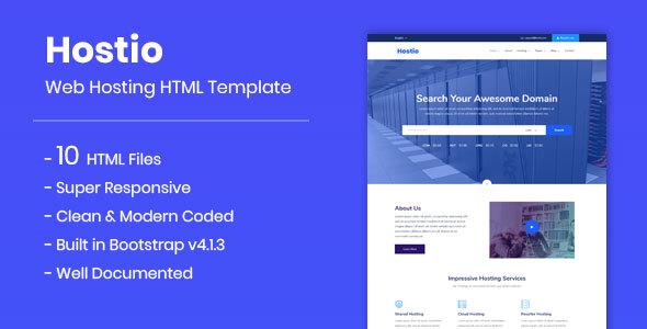 Hostio - Web Hosting HTML Template