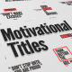 Just Type | Motivational Titles - VideoHive Item for Sale